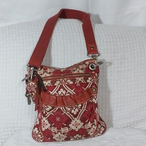 Fossil Floral Crossbody